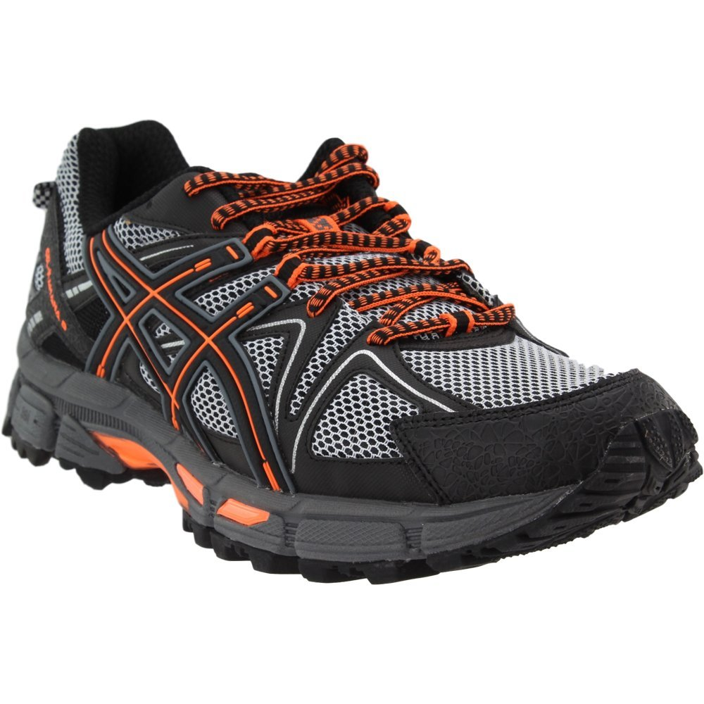 ASICS Mens Gel-Kahana 8 Running Shoe Black/Hot Orange/Carbon 6.5 Medium US by ASICS (Image #1)