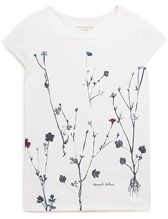 043553ff0108f MONOPRIX KIDS - T-Shirt Manches Courtes imprimé herbier - Fille - Taille    13