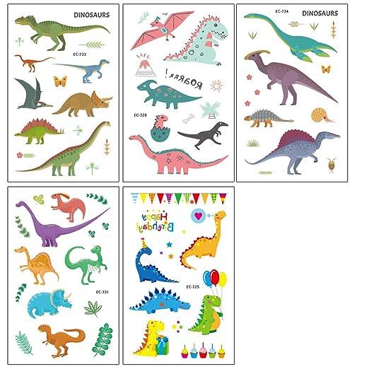 STOBOK 10 UNIDS Dinosaurio de Dibujos Animados Pegatinas de ...