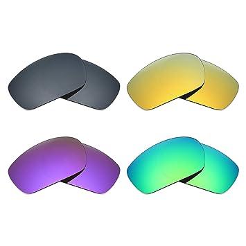 bbe61b75ee MRY 4 pares polarizadas lentes de repuesto para Oakley Jawbone Iridium  sunglasses-black/24 K Oro/Plasma, Color Morado/Verde: Amazon.es: Deportes y  aire ...