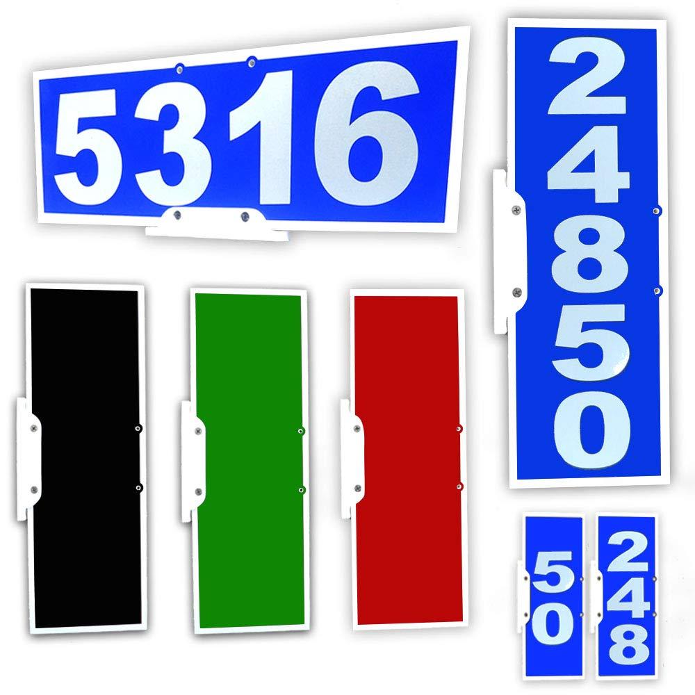 CIT Group Mailbox Address Plaque, Reflective 911 Plate, Mailbox Topper. Most Visible Mailbox Address Marker on The Market!