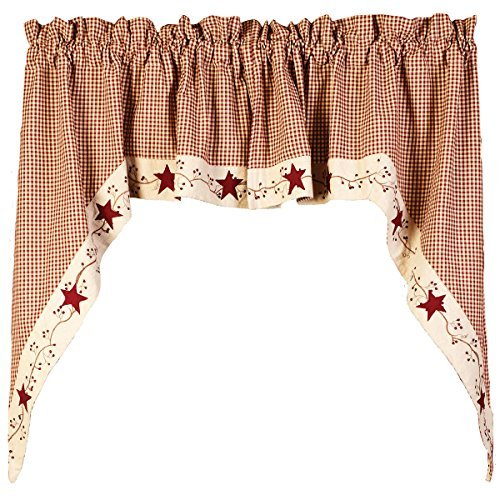 Stars And Berries Country Swag (Berry Curtains)