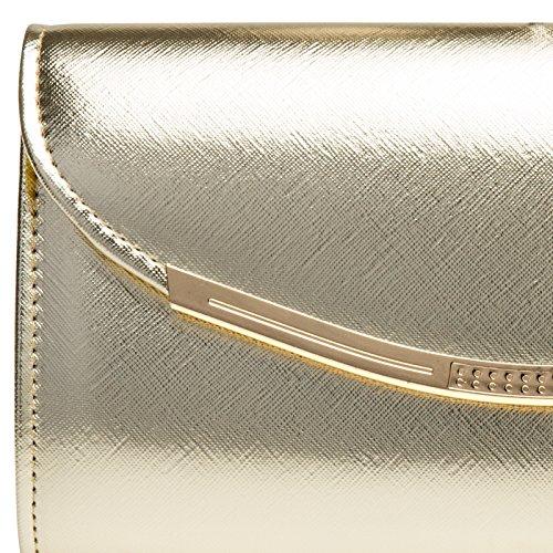 longue chaînette baguette forme Doré Pochette à Sac CASPAR main soirée femme de avec pour TA383 qx7O4CRFw