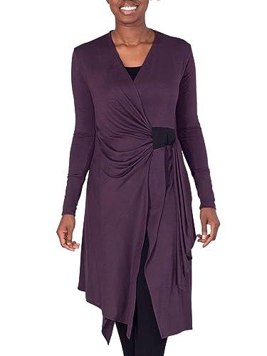 0edd359a98 Amazon.com: Plum Asymmetric Yoga Cover-Up, Cardigan, from Erin Draper  (Sizes XS, S, M, L, XL and XXL): Handmade