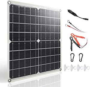 TP-solar 20W 12V Solar Panel Trickle Charger Battery Maintainer for Car Boat Marine Golf Cart