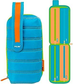 Estuche milan kit 4 estuches con contenido colours azul: Amazon.es: Oficina y papelería