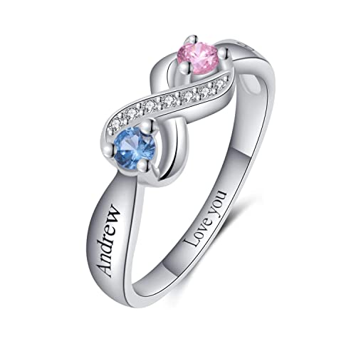Amazon Com Custom Promise Infinity Rings For Her Personalized
