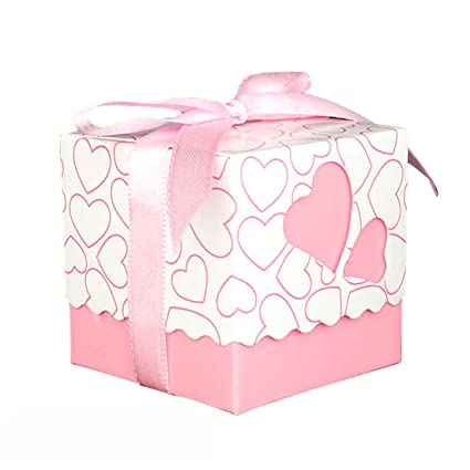 b38a92bf78ac Amazon.com: Gift Boxes Small, XSHION 50 Pieces Valentines Day Treat ...