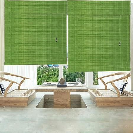 LXF Estores Enrollables 85% Sombra Enrollable de Protección Solar para Pérgola de Patio Trasero con Balcón, Persianas Verticales de Bambú Verde, 80/90/100/120 Cm de Ancho (Size : 120×150cm): Amazon.es: Hogar