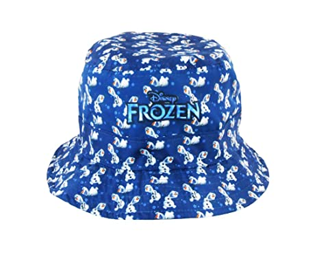 f08a1a00121 Disney Kids Frozen Reversible Bucket Hat Light Blue Dark Navy ...