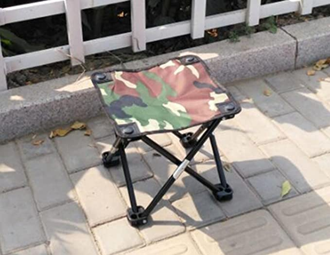 Wdbs portatile pieghevole metallo sgabelli imbottiti sedie schienale