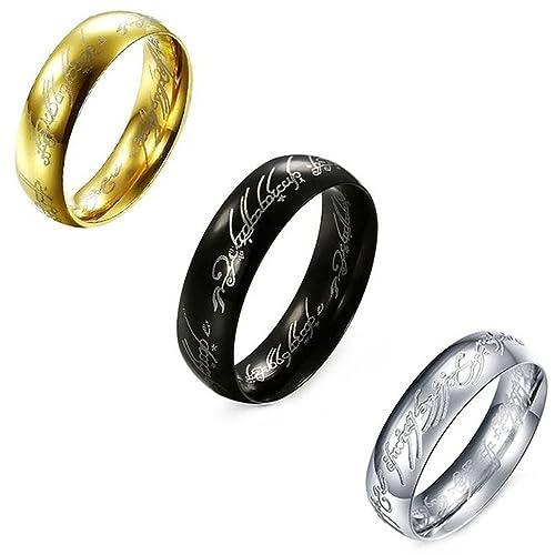 Señor de los anillos, jeracol Cool Elvish Script Anillo de ...