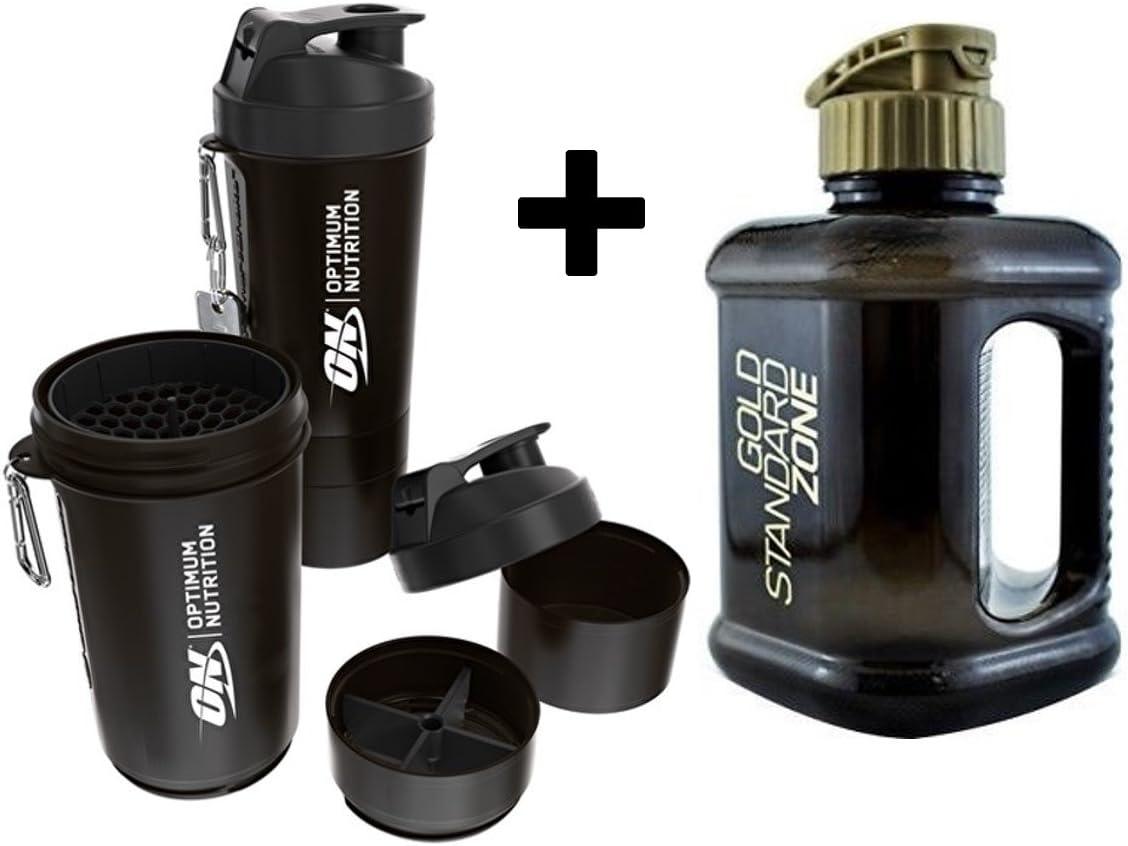 Optimum Nutrition - Jarra de agua (2 L, con batidora de proteínas, 600 ml)