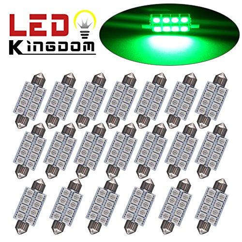 100 Light Led Green Dome Lights - 8