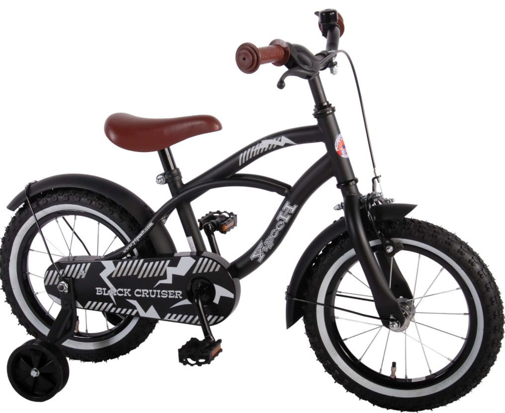 14 Zoll Fahrrad Qualitäts Kinderfahrrad mit Stützräder bike Black ...