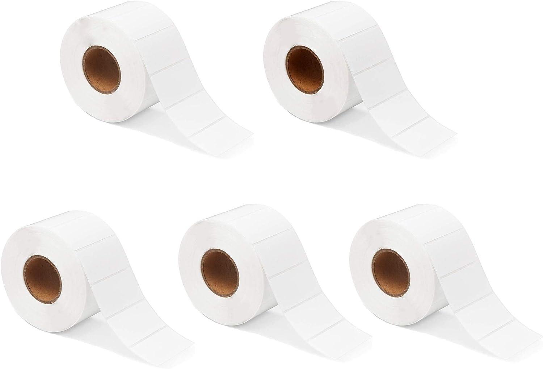 CHSG 5 Rollo Etiquetas T/érmicas Rollo de 1000 Hojas Etiquetas Autoadhesivas Blancas Para Frascos Congeladores Env/ío de Limpresoras Etiquetas de Ddirecci/ón Nombre Fecha 3 x 2 cm