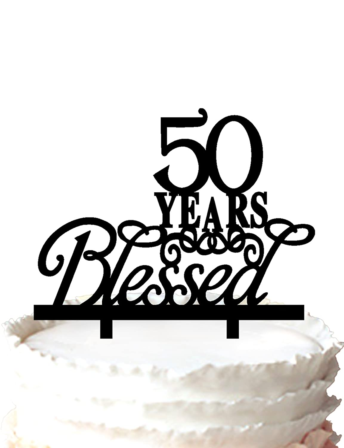 Amazon 50 Years Blessed Wedding Anniversary Cake Topper Home
