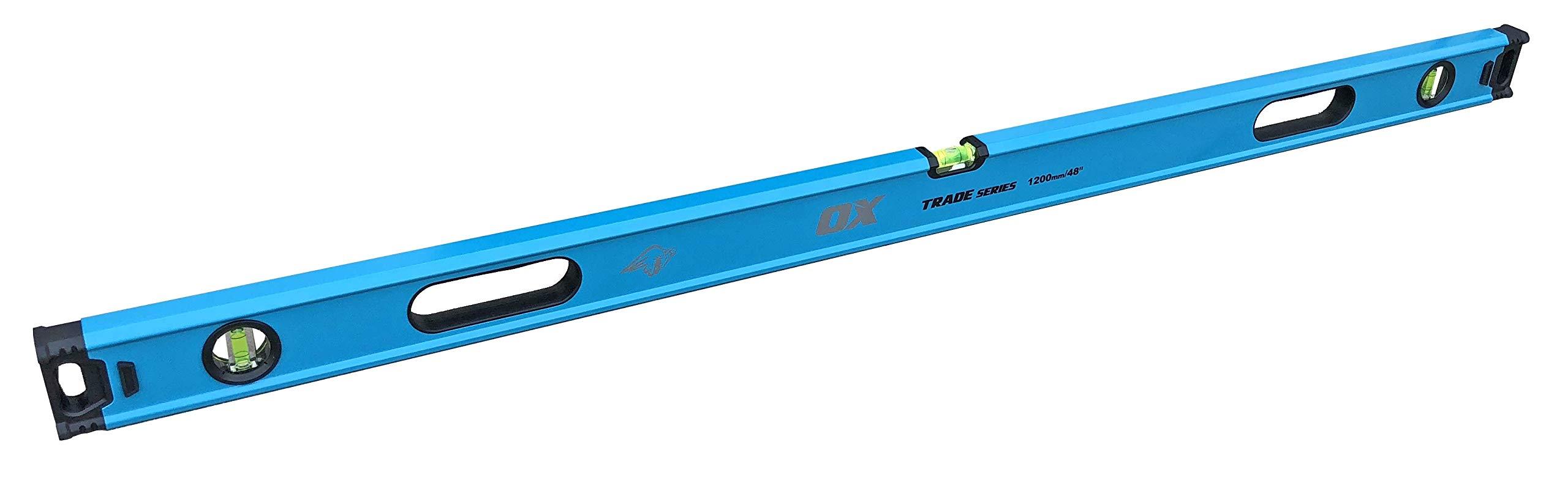 OX Tools Tradesman Box Level 48''/120 cm Magnified Vials