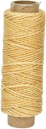 Cordón de hilo de coser de cuero cosido 50 metros/rollo 150D Kit de herramientas de bricolaje artesanal de cuero para coser a mano y a máquina(#5): Amazon.es: Hogar