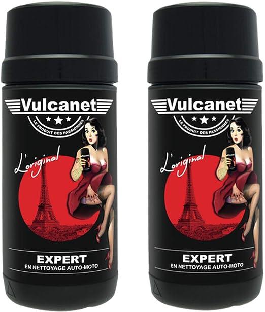 2 X Vulcanet Reinigungstücher Für Auto Motorrad Mikrofaser Tuch 2 Tücher Zum Reinigen Polieren Schützen Auto Motorrad Alle Oberflächen Ohne Risiko Von Kratzern Ohne Wasser Ohne Ausrüstung Küche Haushalt