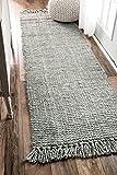 nuLOOM Handmade Natural Fibers Chunky Loop Runner Area Rugs, 2' 6' x 8',...