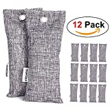 NEWBEA-1 12 Pack Charcoal Air Purifying Bag, Travel Size Shoe Deodorizer, Air Freshener, Odor Eliminator, Odor Absorber for Shoes, Home, Closet, Car