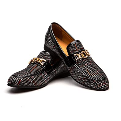 e87a48382dc834 JITAI Men s Leather Shoes Pattern Printing Men s Dress Loafer Shoes Slip-on  Casual Loafer Smoking
