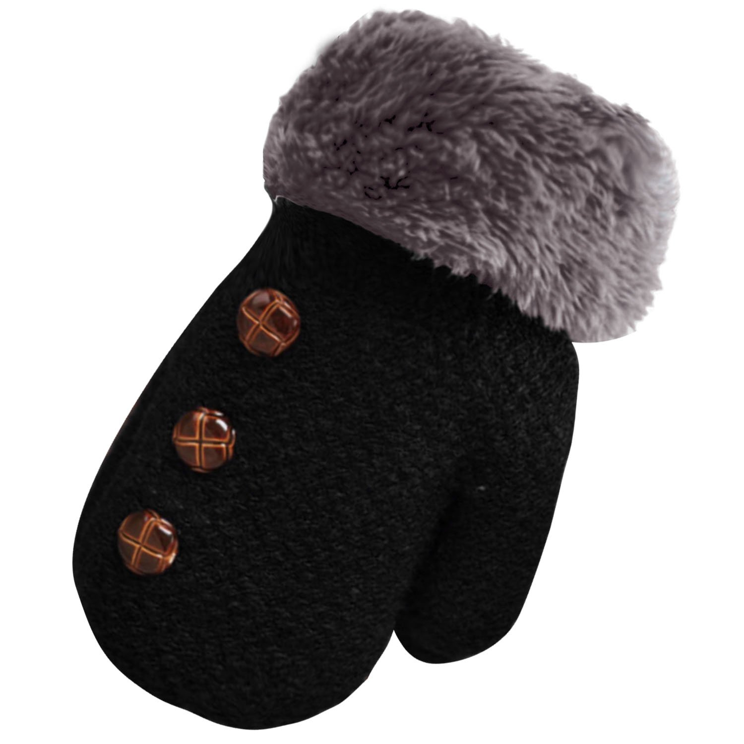 Cute Winter Warm Kid Baby Children Boy Girl Glove Coffee Gosear