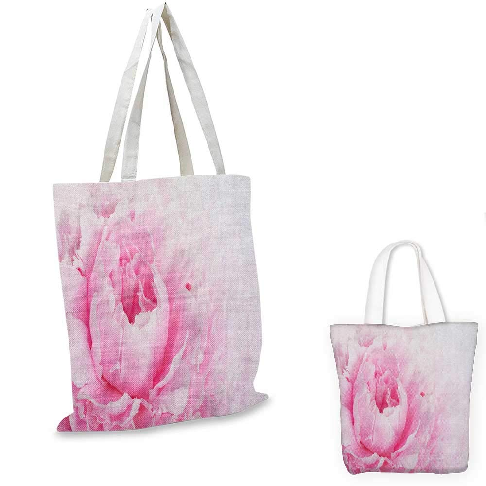 12x15-10 Pink and White canvas messenger bag Close Up Picture of a Gerbera Daisy with Water Drops on Its Petals canvas beach bag Pale Pink Marigold