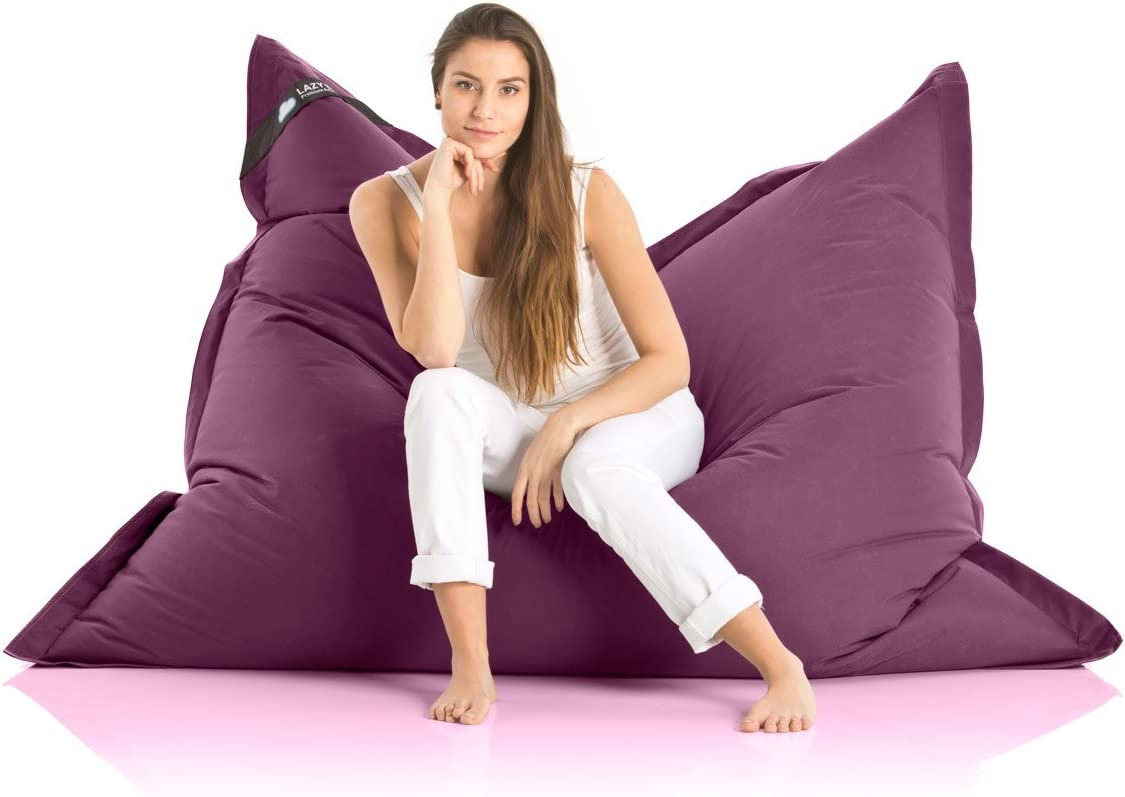 Lazy Bag Original Pouf G/éant Indoor /& Outdoor Beanbag XXL 400L si/ège coussin pour enfants /& adultes 180x140cm violet
