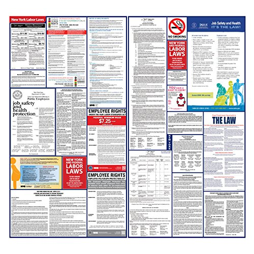 2017 New Yor State And Federal Labor Law Poster Set   Laminated   All In One Ny Compliant  Laminated