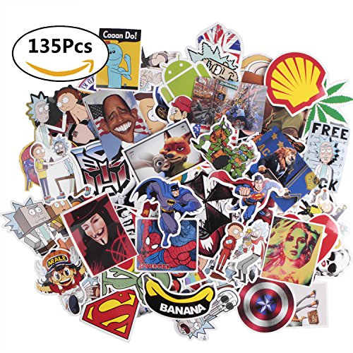 Future 135 Pcs Laptop Waterproof Stickers Pack Car Stickers