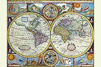 Amazon new accurate map of the world a stereographic new accurate map of the world a stereographic projection 20x30 paper poster gumiabroncs Gallery