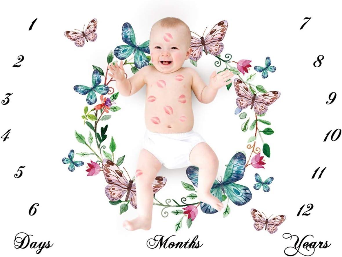 Haokaini Bebé Mensual Mantas Hito, Recién Nacido Fondo fotográfico Fotografía Mantas, Héroe Floral Sirena Animales Bebé Mensual Ducha Crecimiento Regalos