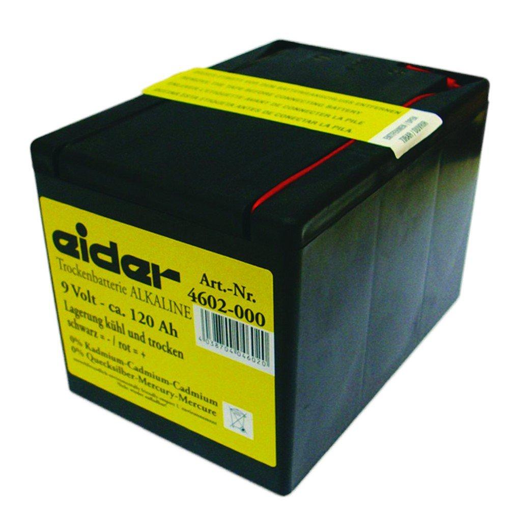 Alkaline 9 Volt 120 AH Weidezaun Batterie Weidezaungerät Weidebatterie 120aH Neu