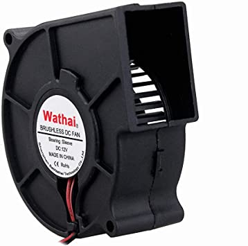4Pcs Brushless DC Cooling Blower Fan 12V 7530s 75x75x30mm 0.18A Sleeve 2 Pin