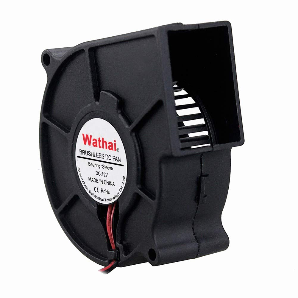 Wathai 12V 75mm x 30mm DC Brushless Cooling Turbo Blower Fan