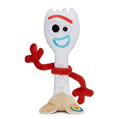 Disney 37303 Pixar Story 4 Forky Soft Toy in Gift Box 25 cm, White: Toys & Games