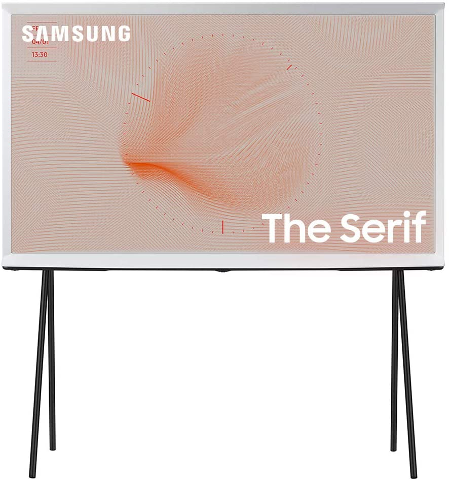 SAMSUNG 55-inch Class SERIF QLED Serif Series - 4K UHD Quantum HDR 4X Smart TV with Alexa Built-in (QN55LS01TAFXZA, 2020 Model)