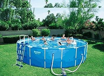 Runder Pool 366 x 122 + Motor Wasser Meer Strand Garten ...