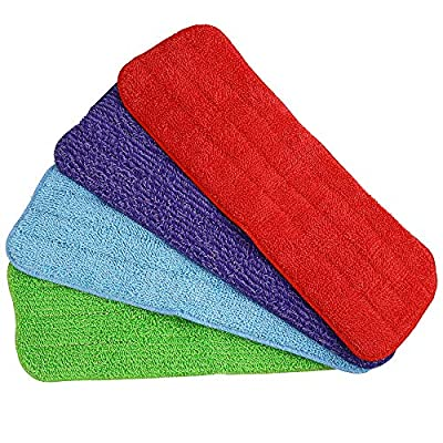 Aynoo Reveal Mop Microfiber Cleaning Replacement Pads for Spray Mops and Reveal Mops Wet Mop Dry Mop for Home and Commercial Cleaning Refills Washable (15.5 x 5.5inch, 4PCS)
