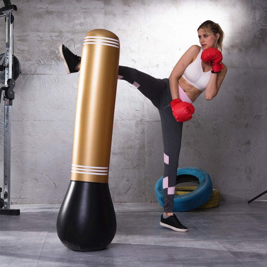 Sac de Frappe Boxe sur Pied MMA Punching Ball pour Karat/é Sacs de Frappe Lourds Sac de Boxe Gonflable FunPa Punching Ball Gonflable pour Adulte Enfants Fitness