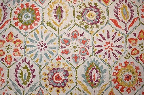 Multicolored Tile Design Antique Stone Multi P Kaufmann Fabric by P Kaufmann