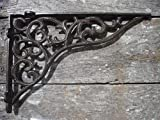 Unique Home Decorative Cast Iron Metal Ornate Scroll Pattern Shelf Bracket, 11 x 8 inch Set of 2, by Southern Charm Market