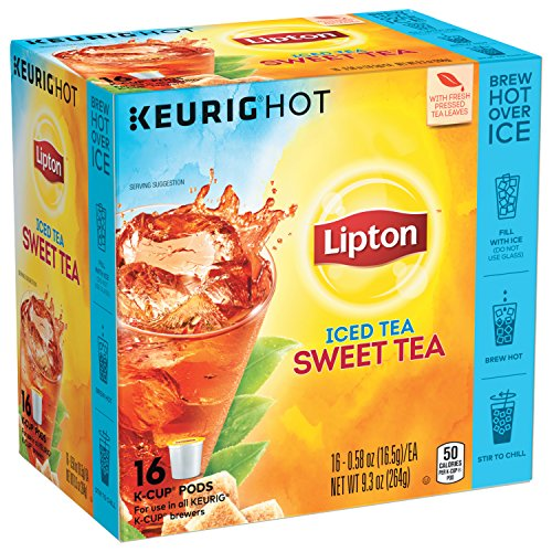 Lipton Iced Tea K-Cup Sweet Tea 16 ct, pack of 4