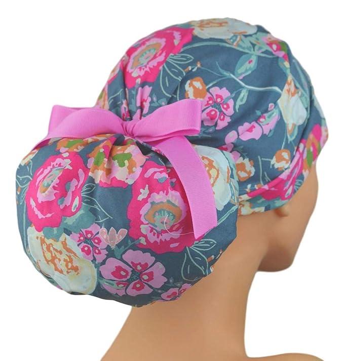 Amazon.com  The Perfect Fit Ponytail Scrub Hat Original Design Best Fit  Ever Pony Pouch - Trellis Roses  Clothing 919b95e51ea5