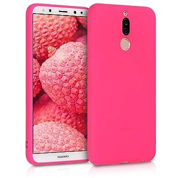 kwmobile Funda para Huawei Mate 10 Lite - Carcasa para móvil en TPU Silicona - Protector Trasero en Rosa neón