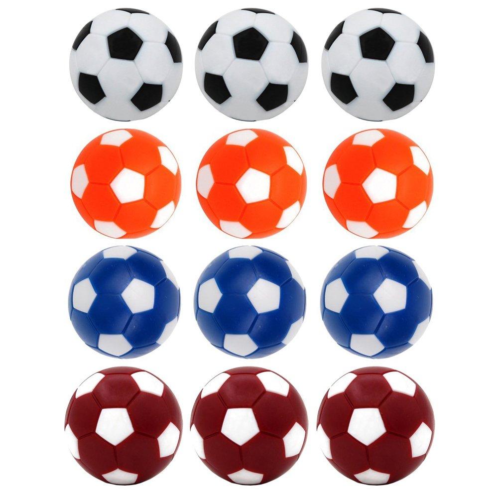 Croing (12 pcs Balles Baby Foot Foosball Balles - Balles Table Soccer - Remplacement de Baby-Foot Balles - Mini Jeu de Table coloré DE 36 mm des balles