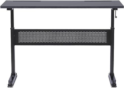ErgoMax Height Adjustable Crank Desk w/Tabletop