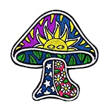 Dan Morris Sun Mushroom Patch Psychedelic Hippie Embroidered Iron On Applique